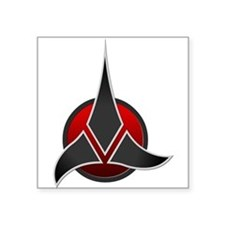 "Klingon Empire Signia 3000 Square Sticker 3"" x 3"""