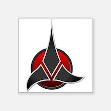 """Klingon Empire Signia 3000 Square Sticker 3"""" x 3"""""""