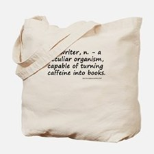 Writers and Caffeine Tote Bag