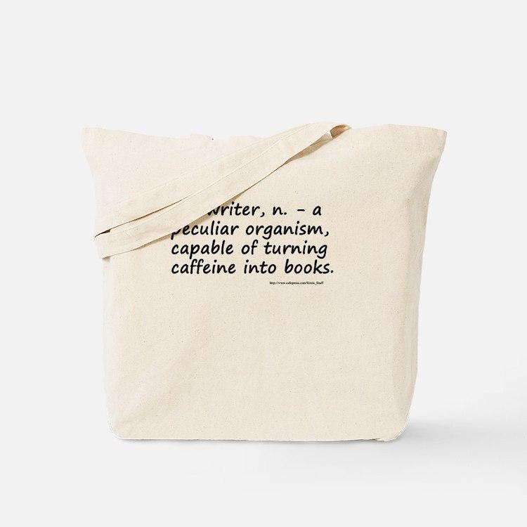 Writers and Caffeine Tote Bag