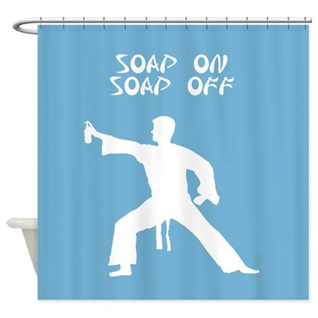 Karate Kid Parody Funny Shower Curtain By InspirationzStore