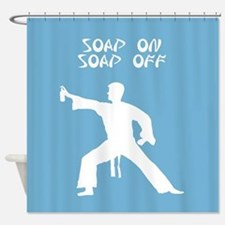 Karate Kid parody funny shower curtain