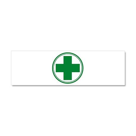Green Cross Car Magnet 10 x 3