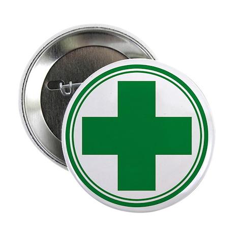"""Green Cross 2.25"""" Button (10 pack)"""
