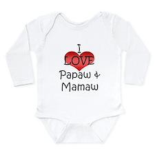I Love Papaw & Mamaw Infant Creeper Body Suit