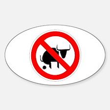 No Bullshit Sticker (Oval)