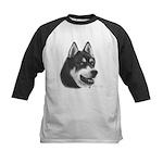 Siberian Husky Kids Baseball Jersey