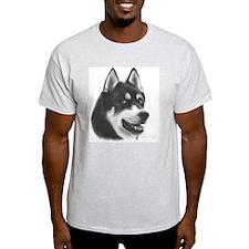 Siberian Husky Ash Grey T-Shirt