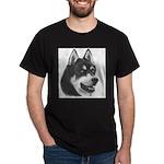 Siberian Husky Black T-Shirt