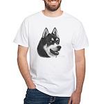 Siberian Husky White T-Shirt