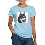Siberian Husky Women's Pink T-Shirt