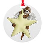Star Angel Round Ornament