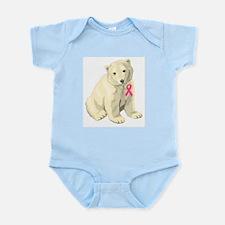 Breast Cancer Awarness Polar Bear Infant Bodysuit