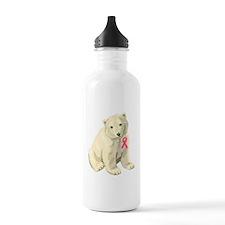 Breast Cancer Awarness Polar Bear Water Bottle