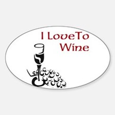 I love to wine Decal