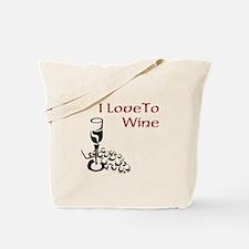 I love to wine Tote Bag