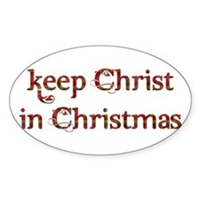 Keep Christ in Christmas Decal