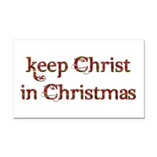 Keep Christ in Christmas Rectangle Car Magnet