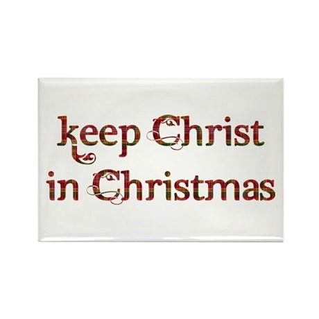 Keep Christ in Christmas Rectangle Magnet (100 pac
