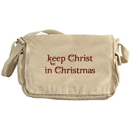 Keep Christ in Christmas Messenger Bag