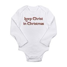 Keep Christ in Christmas Long Sleeve Infant Bodysu