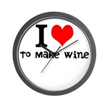 i love to make wine Wall Clock