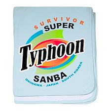 Typhoon Sanba Survivor baby blanket