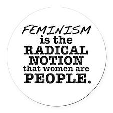 Feminism Radical Notion Round Car Magnet