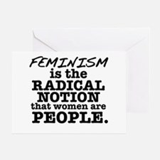 Feminism Radical Notion Greeting Card