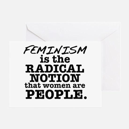 Feminism Radical Notion Greeting Card