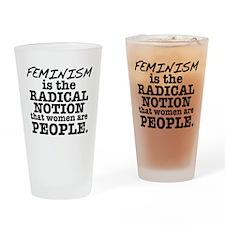 Feminism Radical Notion Drinking Glass