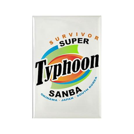 Typhoon Sanba Survivor Rectangle Magnet