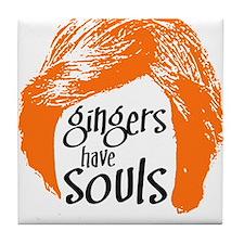 Gingers Have Souls Tile Coaster