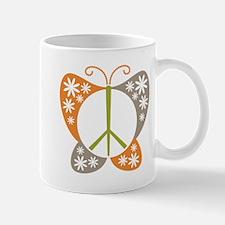 Peace Sign Butterfly Mug