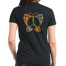 Peace Sign Butterfly Tee