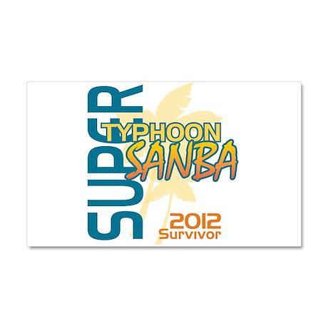 Typhoon Sanba Survivor Car Magnet 20 x 12