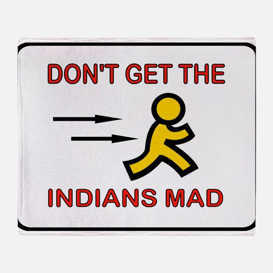 MAD INDIANS Throw Blanket