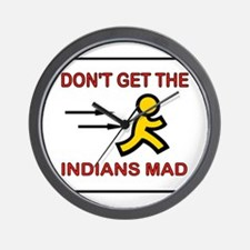 MAD INDIANS Wall Clock
