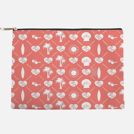 I Love Lucy Pink Pattern Makeup Bag