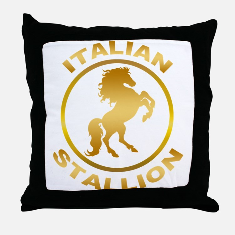 Italian Stallion Throw Pillow