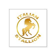"Italian Stallion Square Sticker 3"" x 3"""