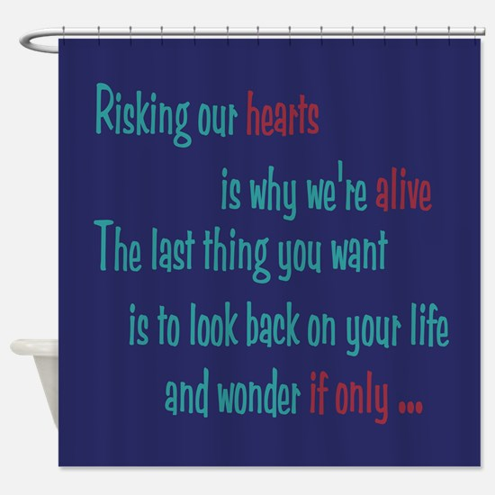 Castle: Risking Our Hearts Shower Curtain