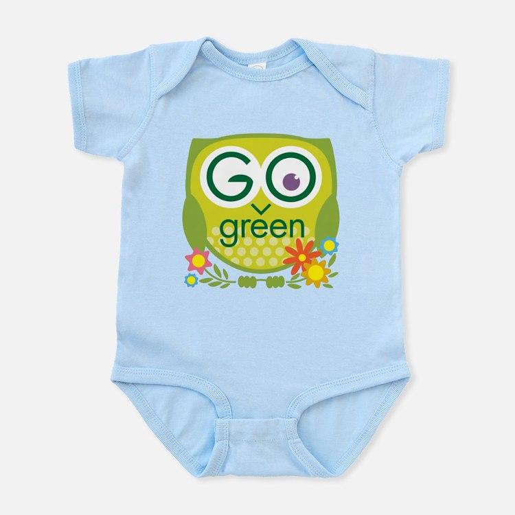 Go Green Owl Infant Bodysuit