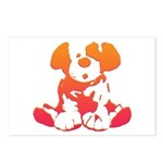 Pink + Orange Puppy Postcards (Package of 8)
