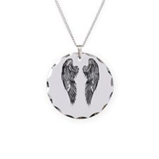 Dark Shaded Angel Wings Necklace