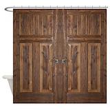 Door rustic Shower Curtains