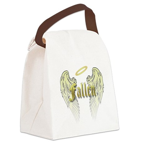 Fallen Gold with Wings Canvas Lunch Bag