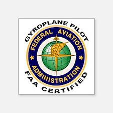 FAA Certified Gyroplane Pilot Sticker