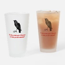 Raven Nevermore Drinking Glass