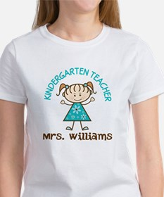 Personalized Kindergarten Teacher Gift T-Shirt